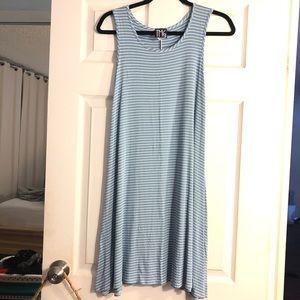 Striped soft jersey cotton stretch dress